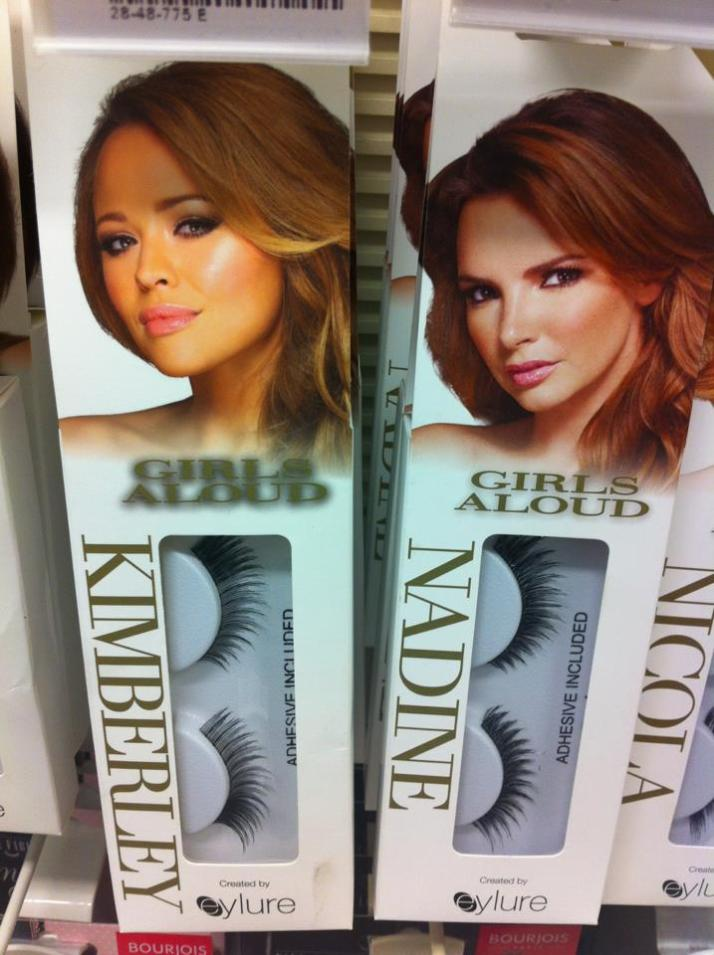 Girls Aloud false lashes