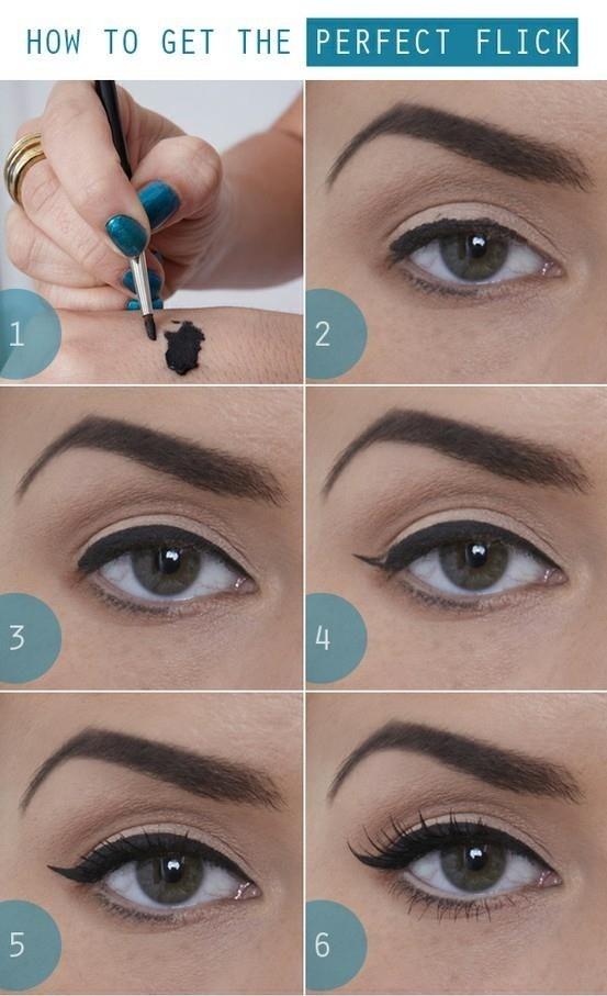 Amusing Winged eyeliner step by step