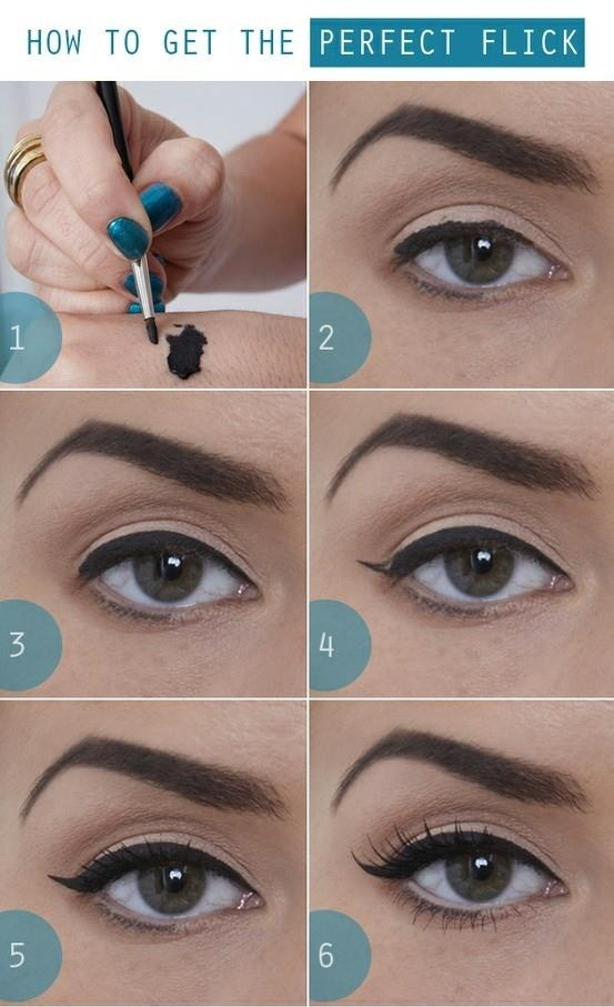Step by step winged liner
