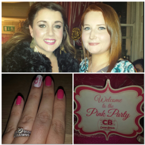 Myself and the lovely Chloe from Nursefancypants blog, and my cool Cocoa Brown Manicure :-)