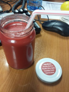 The dreaded red juice!