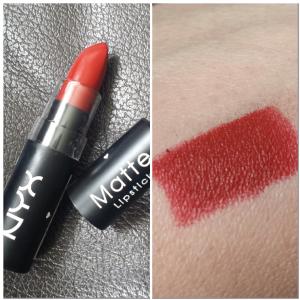 NYX Matte Lipstick in Red